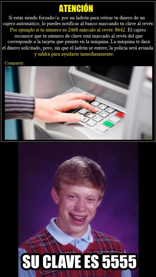 Bad_luck_brian - La importancia de elegir bien un número pin para la tarjeta del banco