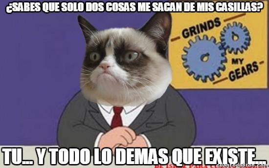 Grumpy_cat - Las dos cosas que me sacan de mis casillas