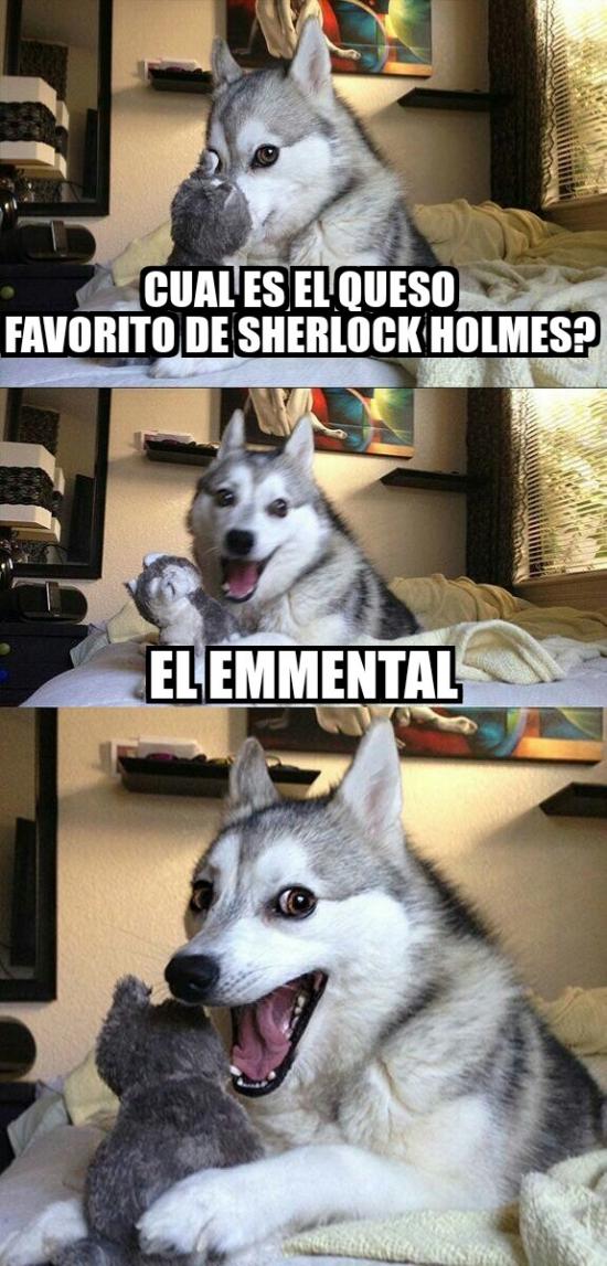 Meme_otros - ¿Cuál es el queso favorito de Sherlock Holmes?