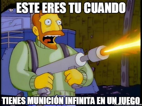 disparar,hank scorpio,infinita,lanzallamas,loco,los simpson,manica,munición