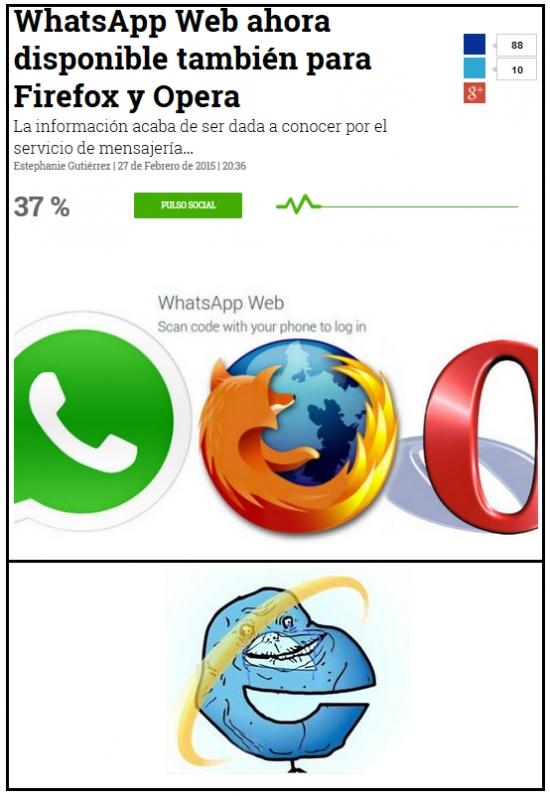 Forever_alone - Y de todos los navegadores, como siempre, el marginado es...