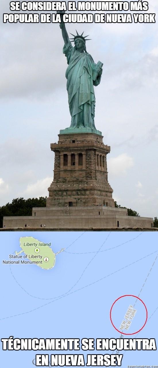 Meme_otros - La real ubicación de la famosa Estatua de la Libertad