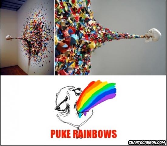 Puke_rainbows - Arte cromáticamente impactante