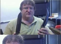 Enlace a Gabe Newell nos trollea a conciencia