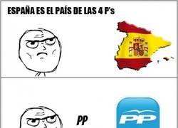 Enlace a España, el país de las 4 P's
