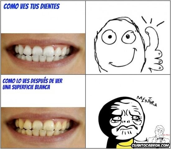 Mentira - ¿De qué color ves mis dientes?