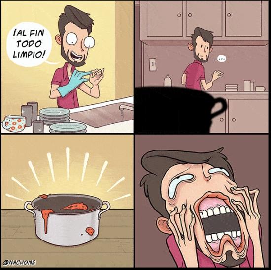 Otros - Lo peor que te puede pasar después de fregar los platos