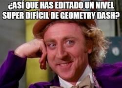 Enlace a Así que has querido ir de troll en Geometry Dash