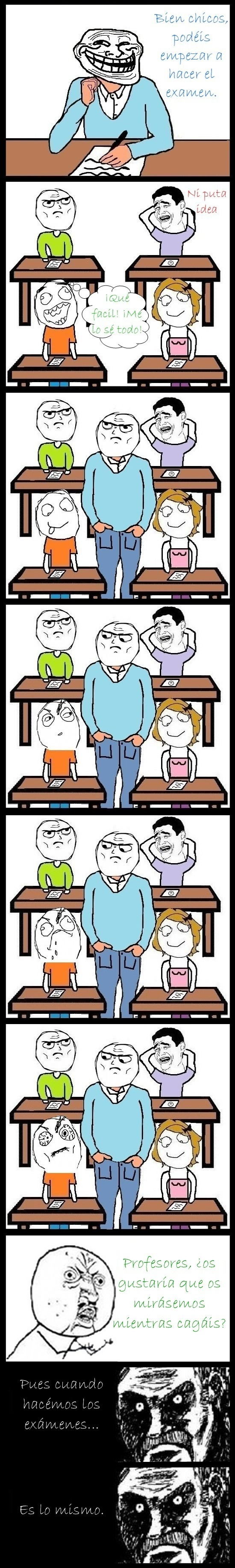 Mirada_fija - Típico comportamiento incómodo de profesores ante un examen