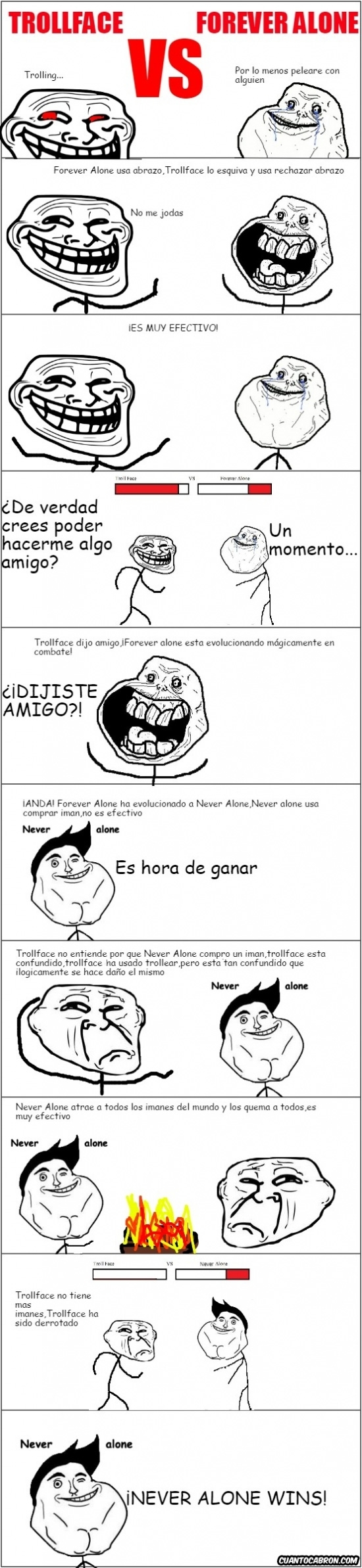 Forever_alone - Combate entre Trollface y Forever Alone de final impredecible
