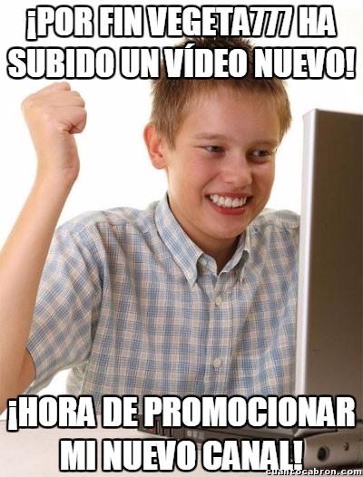 Novato_internet - ¡Malditos spammers de Youtube!