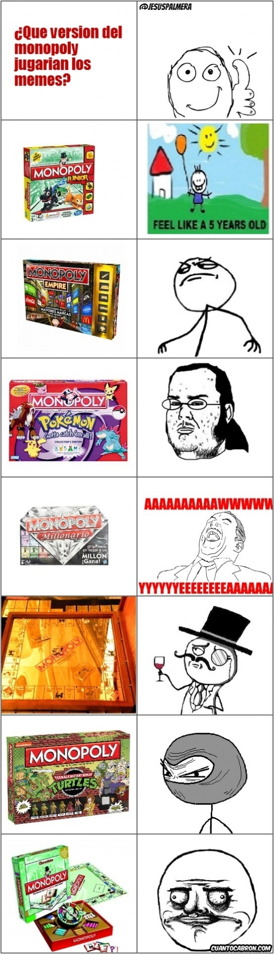 Mix - Los memes y su versión del Monopoly