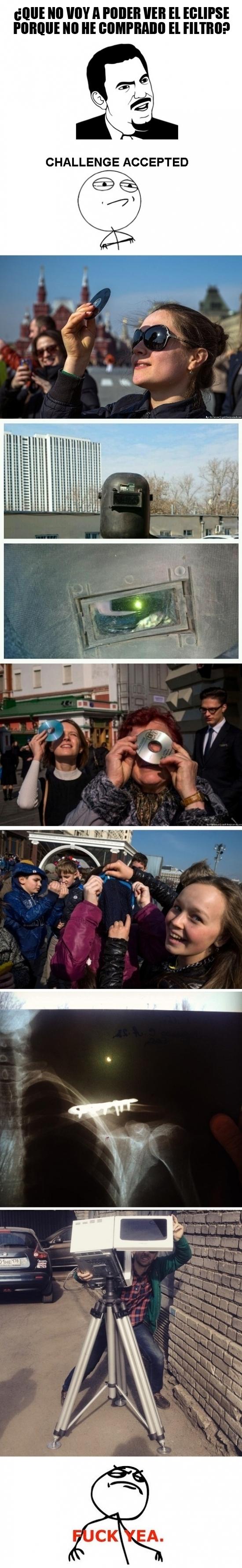 Fuck_yea - Viendo el eclipse desde la temeridad y el ingenio