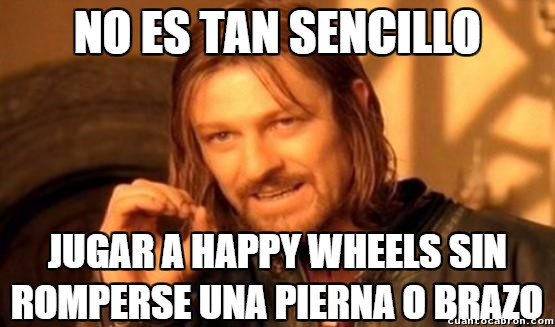 Boromir - Las lesiones habituales del Happy Wheels