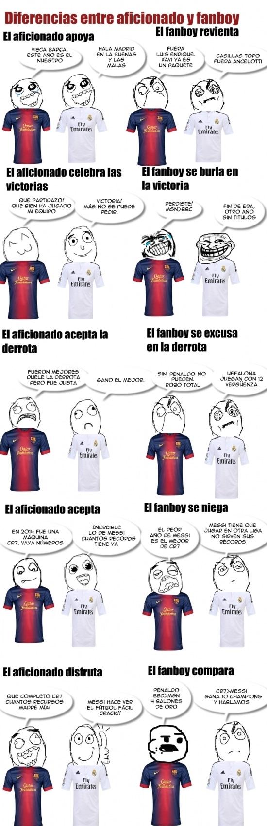 Otros - Diferencias entre aficionados y fanboys del fútbol