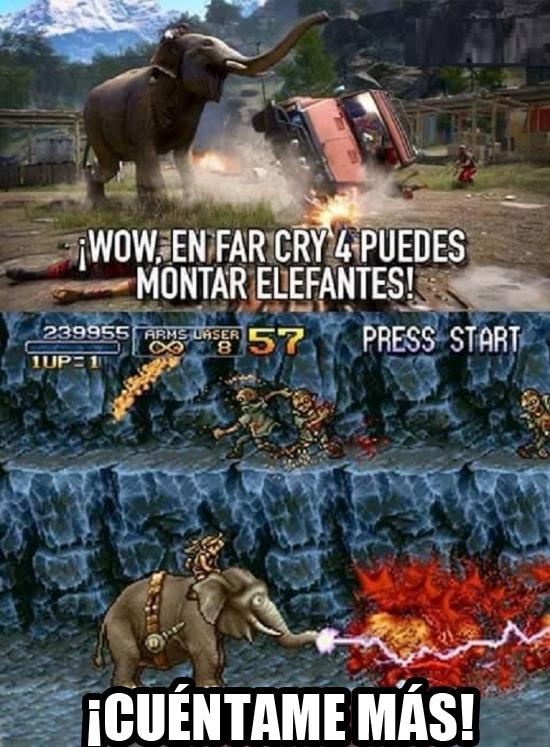 Meme_otros - ¿En Far Cry puedes montar en elefantes?