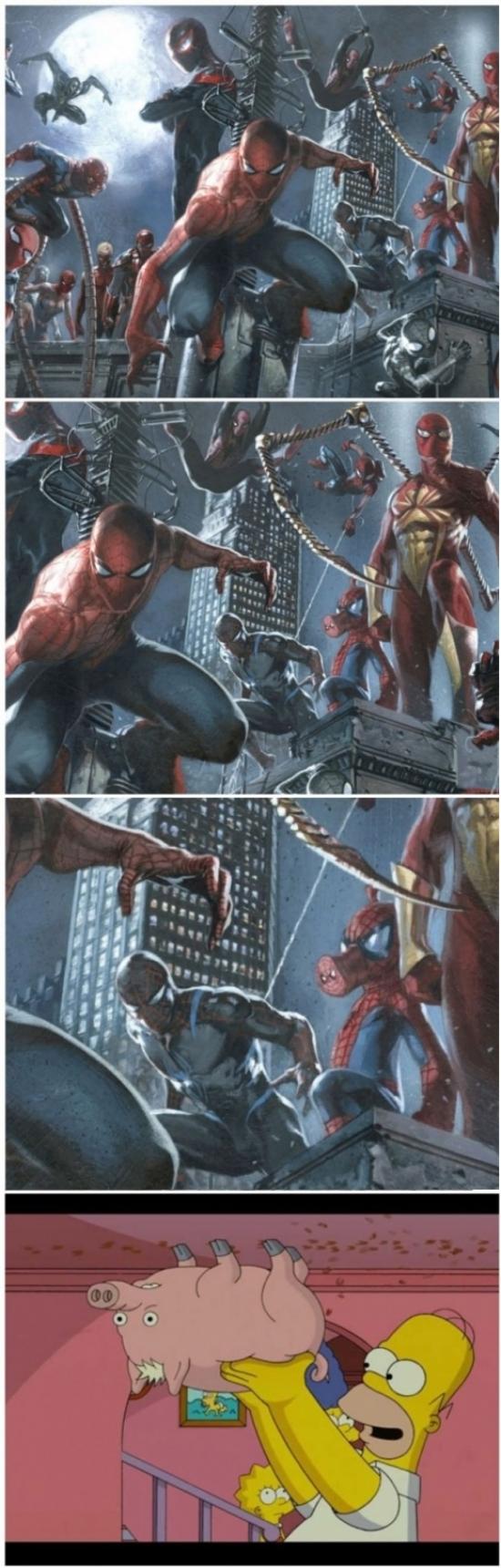 Otros - Todas las versiones de Spider-man en una imagen, al menos las más importantes