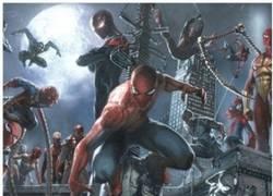 Enlace a Todas las versiones de Spider-man en una imagen, al menos las más importantes