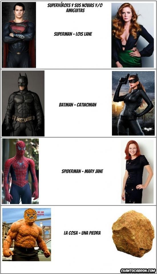 Otros - La suerte de la mayoría de superhéroes con las mujeres