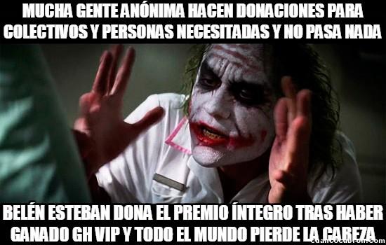 Joker - ¡Oh pueblo de España, alabemos a la persona más generosa e inculta del país!