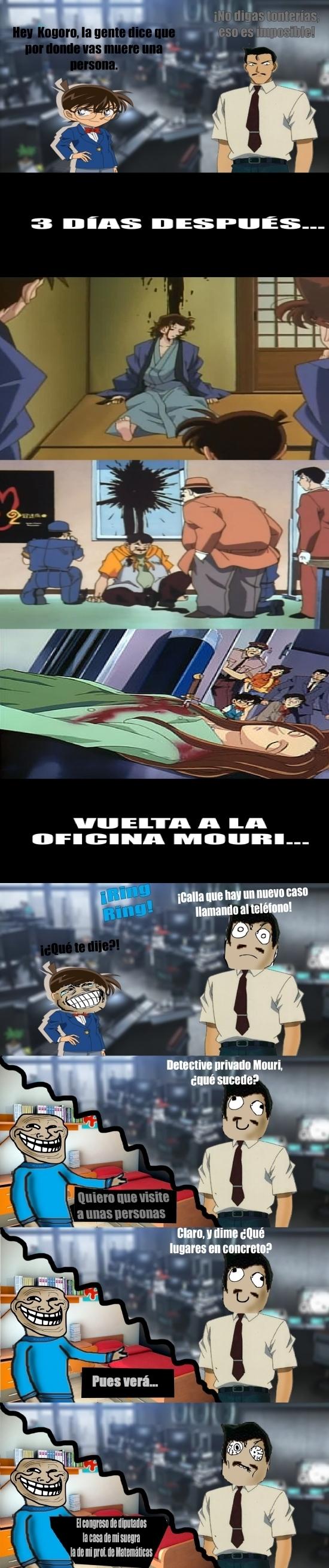 Trollface - El detective Mouri, por donde pasa, arrasa