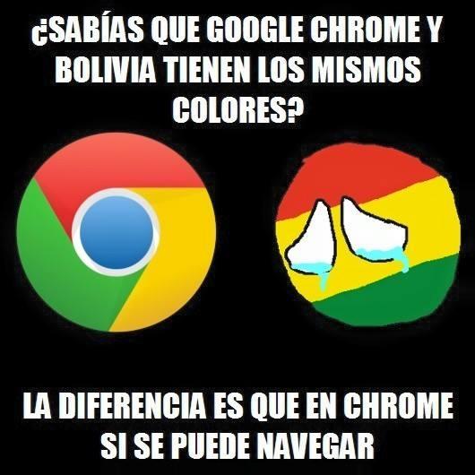 Meme_otros - La similitud entre Chrome y la bandera boliviana