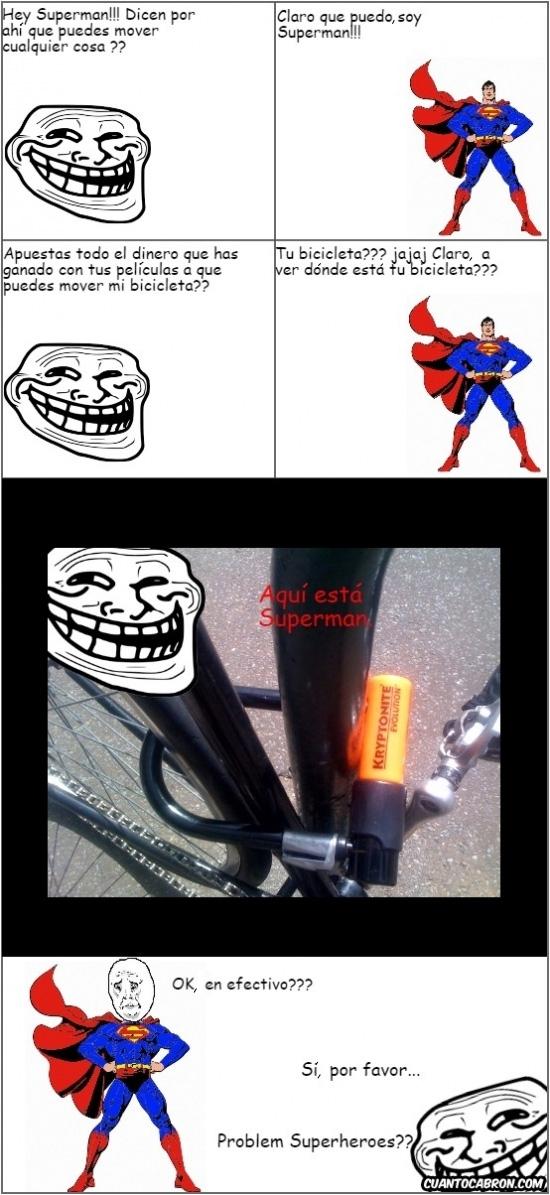 Trollface - Trollface conoce bien las debilidades de los superhéroes