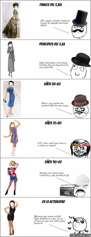 Mix - Cómo ha cambiado la forma de vestir de las mujeres y la manera de los hombres de fijarse en ellas