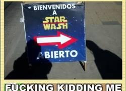 Enlace a A Yoda no le gusta mucho este túnel de lavado de coches