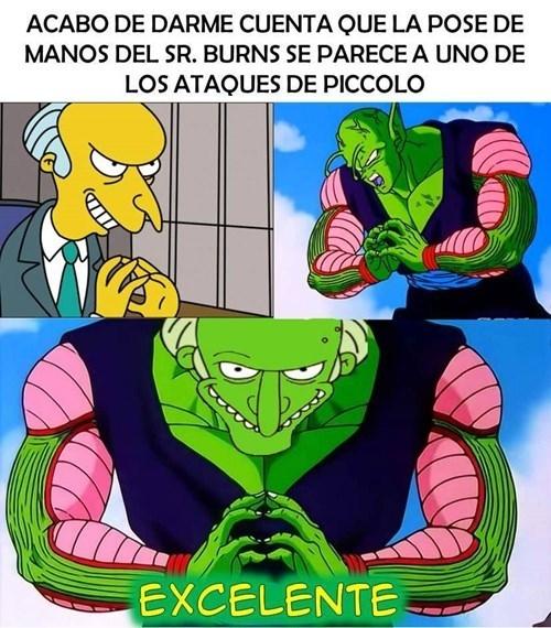 Otros - ¿Quién iba a pensar que podía existir una relación entre el Sr. Burns y Piccolo?