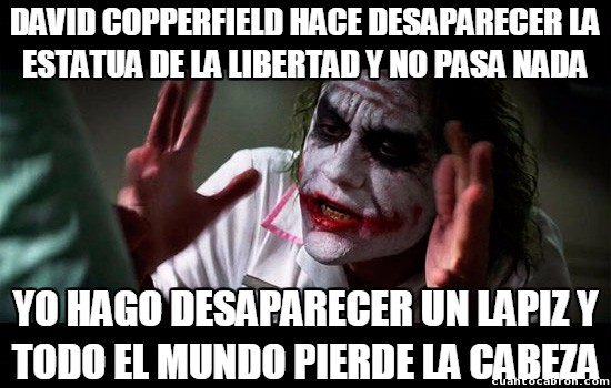 Joker - David Copperfield y el Joker no son tan distintos