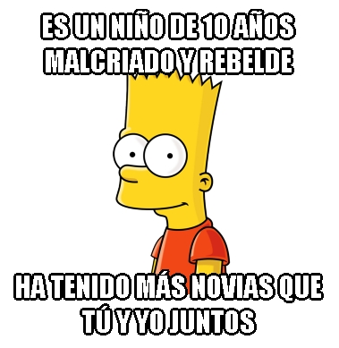 Meme_otros - Bart y su capacidad de amar