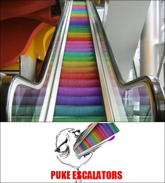 Puke_rainbows - Escaleras muy coloridas