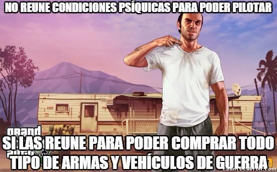 Meme_otros - Las cosas en GTA V parecen muy locas pero no se alejan tanto de la situación de Estados Unidos
