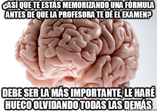 Cerebro_troll - La desventaja de intentar aprenderte algo justo antes del examen