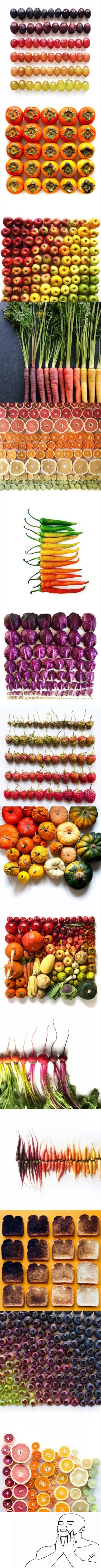 Otros - La perfección de los vegetales y frutas en orden