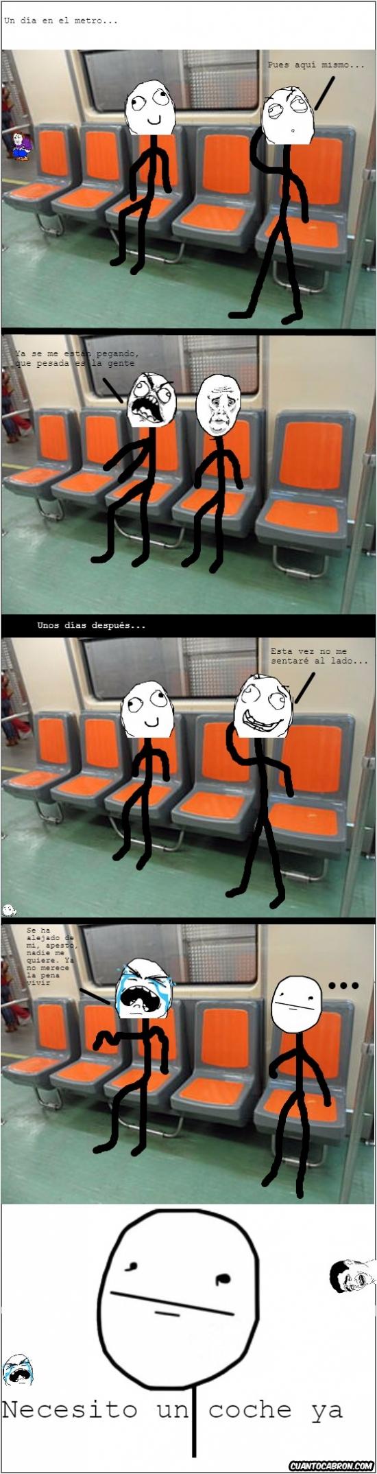 Pokerface - ¿Dónde se debe sentar uno cuando se sube al tren?