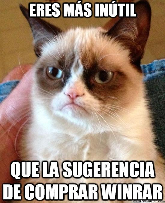 Grumpy_cat - Que no es que no quiera comprar el Winrar, bueno, sí...