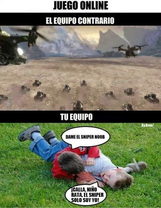 Otros - El equipo enemigo vs mi equipo jugando online