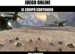 Enlace a El equipo enemigo vs mi equipo jugando online