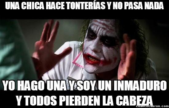 Joker - Las tonterías se toleran de forma diferente según lo que seas