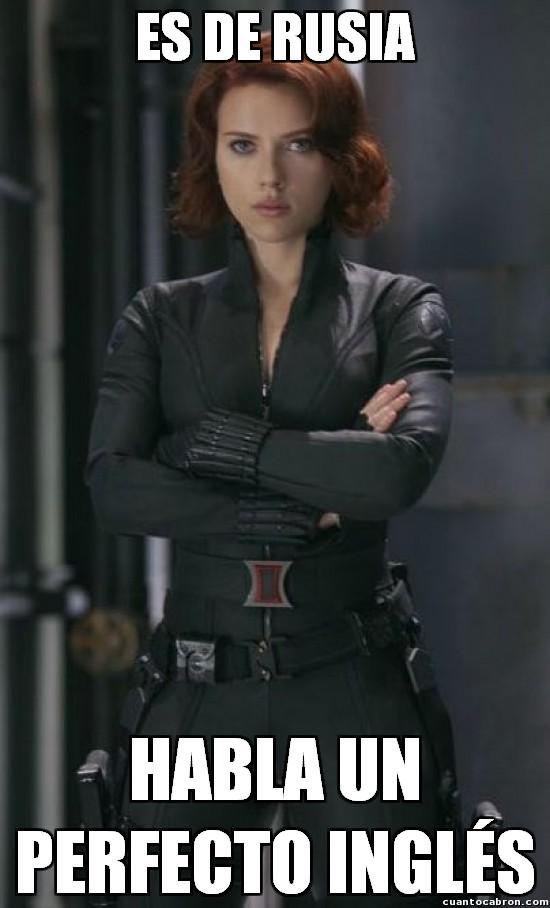 Meme_otros - Black Widow y su impecable habilidad con las lenguas