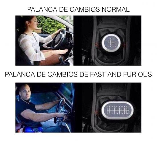 Meme_otros - Fast and Furious y los cambios de marcha