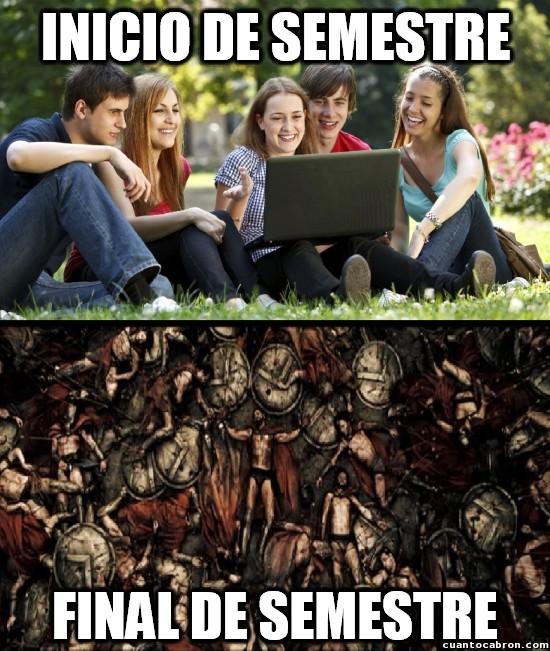 Meme_otros - Tú en cada semestre de la universidad