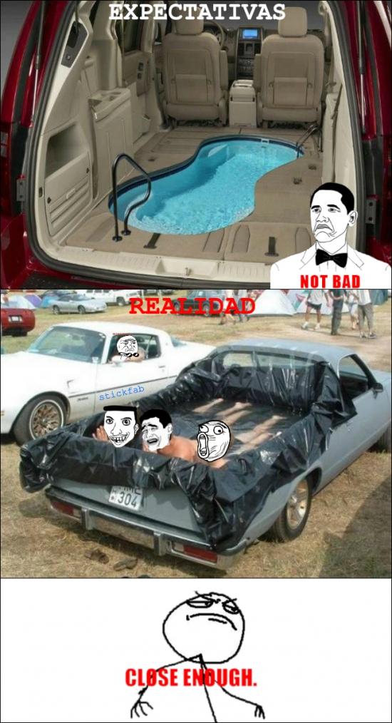 Fuck_yea - ¡Quiero tener una piscina en el coche!