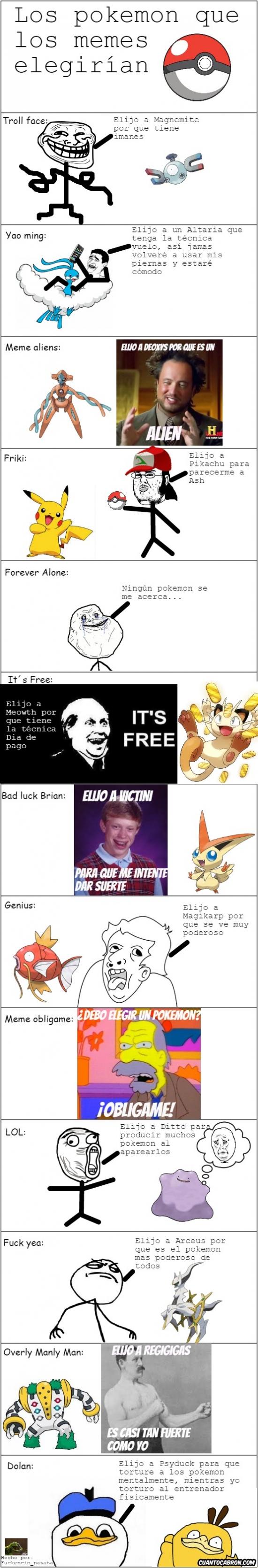 Mix - Los Pokémon que elegirían los memes