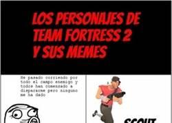 Enlace a Los personajes de Team Fortress 2 y sus memes