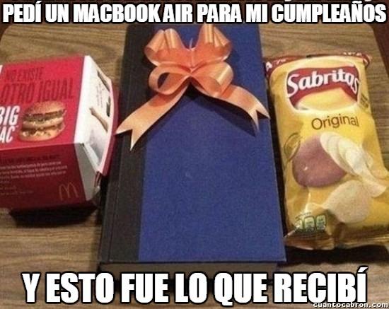 Meme_otros - En los cumpleaños nunca te dan lo que pides