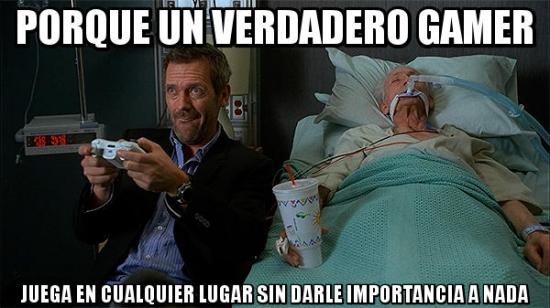 Meme_otros - Dr. House, un verdadero gamer