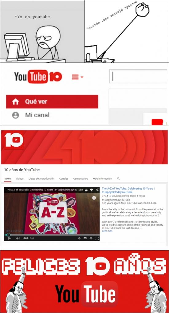 Friki - ¡Felices 10 años, Youtube!